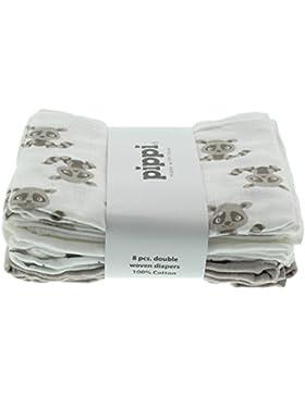 Pippi - Diapers AO-Printed (8-Pack), Sciarpa per bimbi