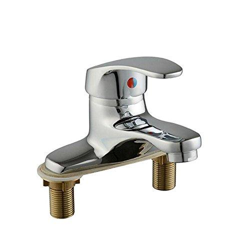 GHFDSJHSD Wasserhahn Bassin Wasserhahn einzigen Handgriff doppelte Steuerung heißen und kalten Wasserhahn (Doppelte Bad Eitelkeit)