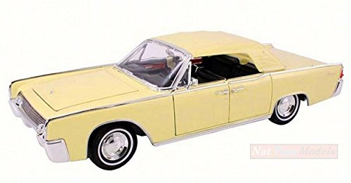 LUCKY DIE CAST LDC20088Y LINCOLN CONTINENTAL 1961 YELLOW 1:18 MODELLINO DIE CAST