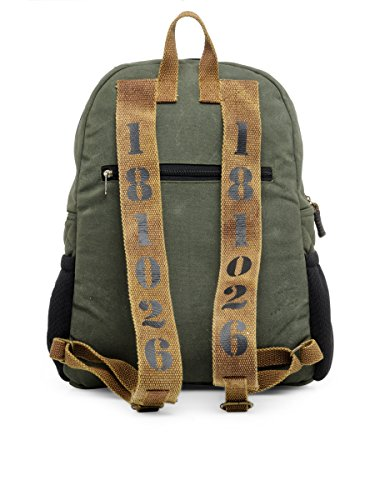 Best canvas backpack in India 2020 The House Of Tara Rugged Unisex Laptop Backpack (Moss Inexperienced) HTBP 164 Image 3