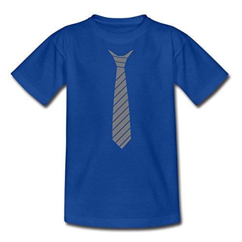 Kinder T-Shirt, 122/128 (7-8 Jahre), Royalblau (Blau Tuxedo Kostüme Shirt)