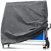"Cubierta protectora de tela Oxford 201D resistente al agua para exteriores, 72,8"" plegable, cubierta de tenis de mesa, durable ping Pong, negro HZC180"