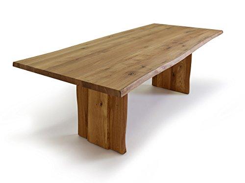 TREE Baumtisch mit Baumkante, 180-220-260 x 100 cm, Holzwange