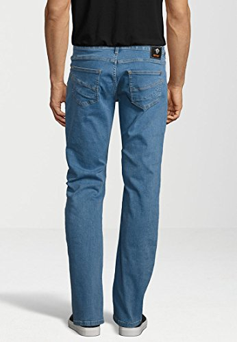 GIN TONIC Herren Jeans STRAIGHT plain mid blue plain mid blue