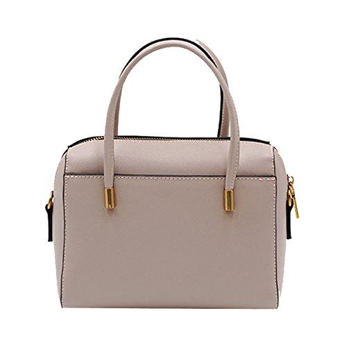 Frauen Handtaschen Mode Umhängetasche Einfach Leder Schultertasche Multicolor Pink