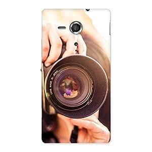 Cute Premier Camera Multicolor Back Case Cover for Sony Xperia SP
