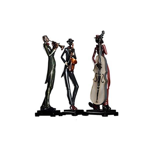 Wham Moon Escultura Estatuilla Estatua Adorno Artesanía, Resina de músico Escultura Regalos...