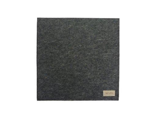 Preisvergleich Produktbild manufra Untersetzer / Mauspad 100 % Schurwollfilz (60301050) Filz grau-meliert