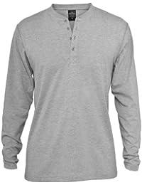Urban Classics Herren Sweatshirt Basic Henley L/s Tee