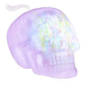 WIDMANN?Calavera con luces caleidoscopiche Cambio Unisex-Adult, morado, talla única, vd-wdm07104