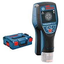 Bosch Professional 12V System Wall Scanner D-tect 120 (without battery, max. detection depth plastic pipes/wooden studs/live cable/magnetic metal/non-magnetic metal: 60/38/60/120/120 mm, in L-Boxx)