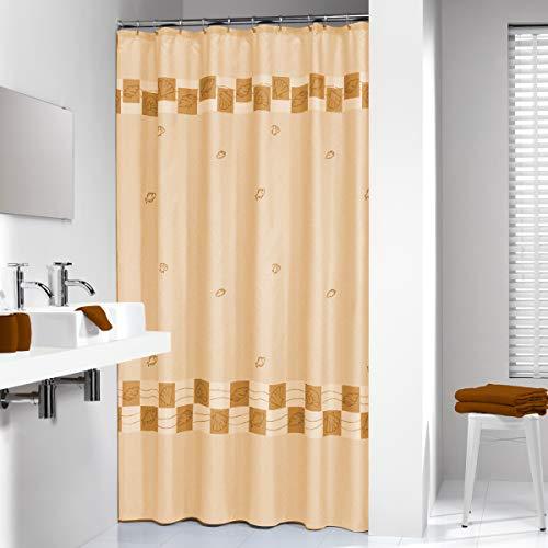 Sealskin Textil Duschvorhang Guadaloupe, Farbe: Beige, B x H: 180 x 200 cm (Farbe Duschvorhang)