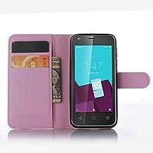 Funda Libro para Vodafone Smart Speed 6, Ycloud Suave PU Leather Cuero Con Flip Cover, Cierre Magnético, Función de Soporte,Billetera Case con Tapa para Tarjetas + 1x Lápiz óptico (Polvo)