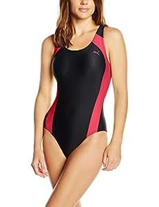 PUMA maillot de bain une pièce active cat logo swim suit w, rose, rouge, xS 512399 24