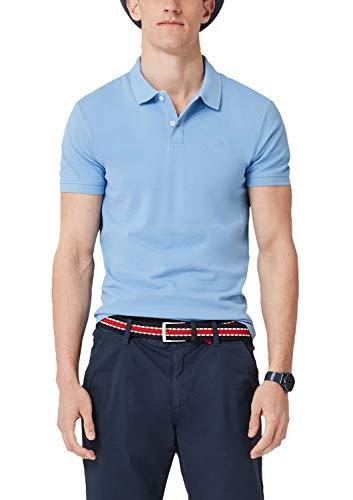 s.Oliver s.Oliver Herren 03.899.35.4586 Poloshirt Blau (Holiday Blue 5330) Small