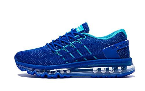Onemix Air Laufschuhe Herren Straßenlaufschuhe Sneaker mit Luftpolster Sport Turnschuhe Sportschuhe Roayl blau