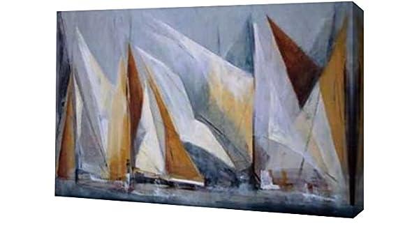 """36/""""x24/"""" OCEAN REGATTA by MARÍA ANTONIA TORRES SAIL CANVAS"""
