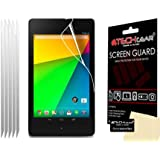 [Pack of 5] TECHGEAR Google Nexus 7 2 II 2nd Gen 2013 Version CLEAR LCD Screen Protectors With Screen Cleaning Cloth & Application Card