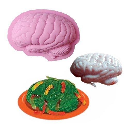 Inovey Menschliches Gehirn Formbacken Silikon Halloween Kuchenform Pudding Jello Dessert Schimmel