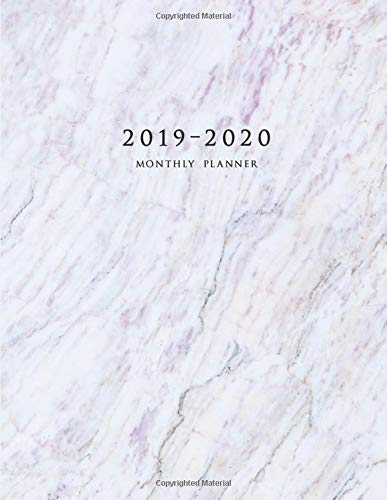 2019-2020 Monthly Planner: Large Two Year Planner with Marble Cover (Volume 7) por Miracle Planners