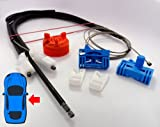 Kit regolazione finestrino elettrico anteriore Dx con cavi, interruttore e montaggio - Renault Laguna