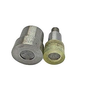 Doble tapa remaches de ajuste herramienta die set para prensa de la mano verde remachadora universal máquina de boda Decor, acero inoxidable, Verde, 6 mm