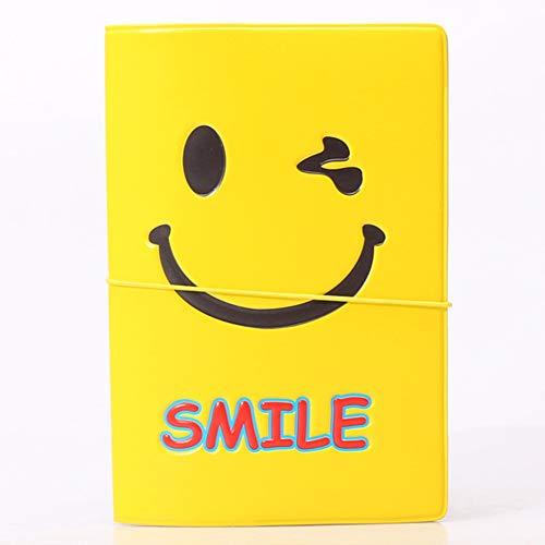 Lächeln Gesicht Mehrzweck-Passinhabers Cover 3D-Muster drucken Reisebrieftasche 6 * 4 Zoll