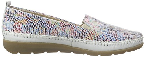 Remonte Dorndorfd1902 - Mocassini Donna Multicolore (Weiss/multiflower/90)