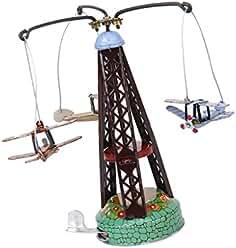 VWH Vintage Wind Up rotierenden Flugzeug Karussell Clockwork Spielzeug Sammler Geschenk