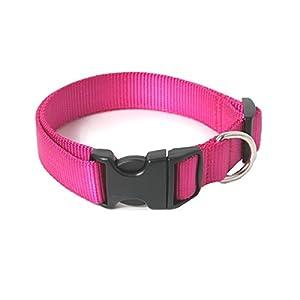 Chico Collier ultra résistant en nylon pour petit chien/chiot Rose Taille S/M Longueur réglable en continu 20-36cm