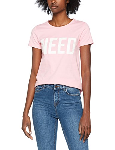 Only Onlriva SS Tee Noos, T-Shirt Donna Rosa (Prism Pink Print:need W/bright White)