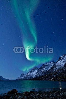 leinwand-bild-20-x-30-cm-aurora-borealis-in-norway-reflected-bild-auf-leinwand