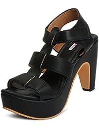 Meriggiare Women Synthetic Black Heels