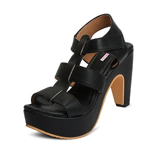 Meriggiare Women Synthetic Black Heels 37 Eu