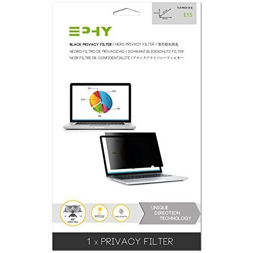 EPHY Privacy Filter / Anti-Glare / Screen Protector for Laptop TFT Monitor Desktop PC LCD LED Screen - Compatible with Apple iMac Macbook DELL SAMSUNG ACER V7 3M IBM LENOVO HP COMPAQ AOC ACER ASUS SHARP LG NEC VIEW SONIC TARGUS (15