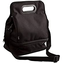 Quid Go Lunch - Bolsa porta menú, 23 x 16 x 31 cm, color negro