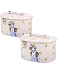 Set Of 2 Elegant Stylish Makeup Bag Small Cosmetics Bags Sundries Bags