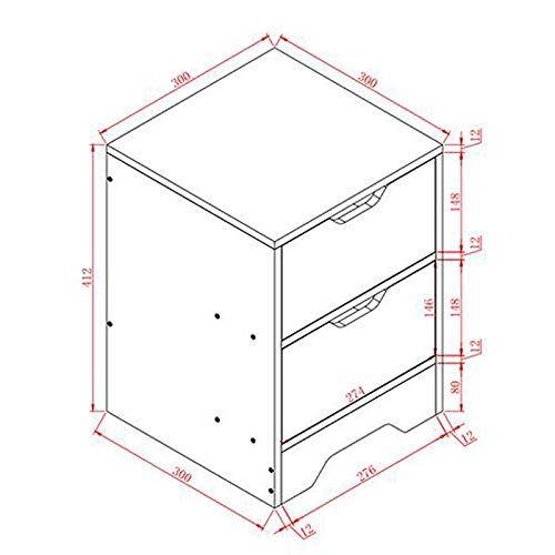 LXD Multifunktionale Nachttisch, Haushalt Holz Beistelltisch/Nachttisch/Nachttisch/Nachttisch mit Schublade und Regal, Lagerschrank Großer Aktenschrank,Schwarz (Aktenschrank Beistelltisch)