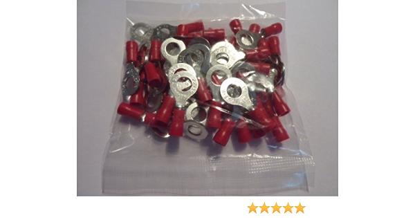 Profitec 50 Stück Kabelschuh Ring M 5 Rot Für Kabel 0 5 Elektronik