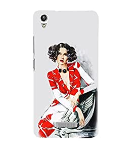 Vizagbeats Lady in Wave Short HairStyle Back Case Cover for LAVA Pixel V1