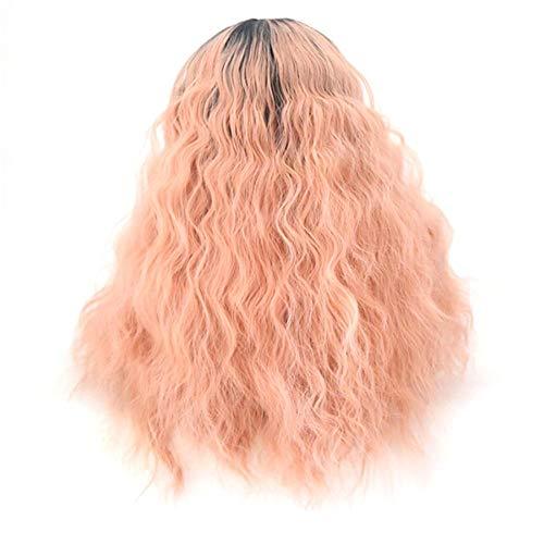 hwarzen Pulver Farbverlauf Chemiefaser Front Lace Perücke Kopfbedeckung Rollenspiel Partei, 20 Zoll ()