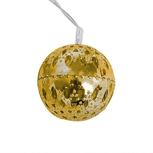 Gold-mosaik-tisch-lampe (QUINTRA Warme WeißE Weihnachten Hochzeit Weihnachts Dekoration Outdoor - Fee - Lampe (Gold))