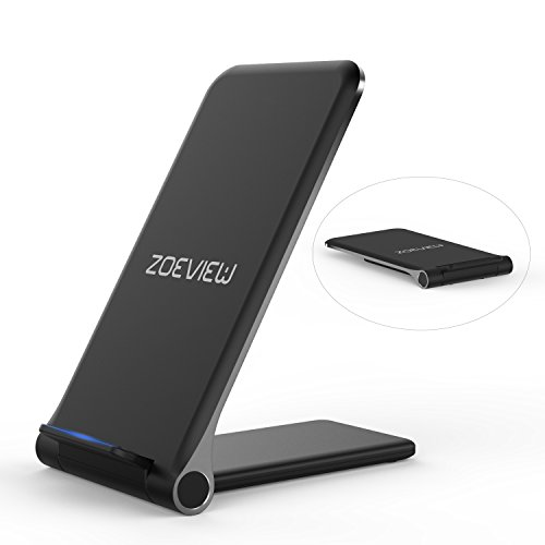 Dock Caricabatterie Wireless Senza Fili Pieghevole Zoeview 10W Carica Rapida per Samsung Galaxy S10/Note 9/S9/S9 +/Note 8/S8, 7.5W per iPhone XS MAX/XR/XS/X/8/8 Plus, 5W ed Altri Telefoni Q