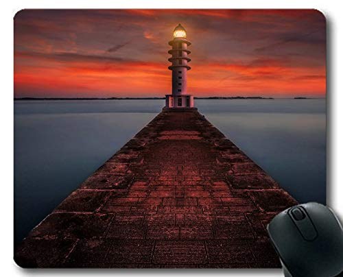 Genähte Kanten-Mauspads, Cape Lighthouse Gaming Mouse Pad