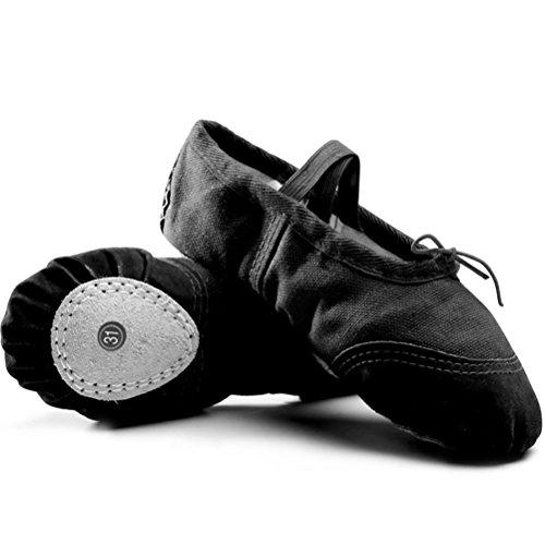 Zhuhaitf Teenage Children Freizeit Ballet Dance Canvas Shoes KMG51002 Black