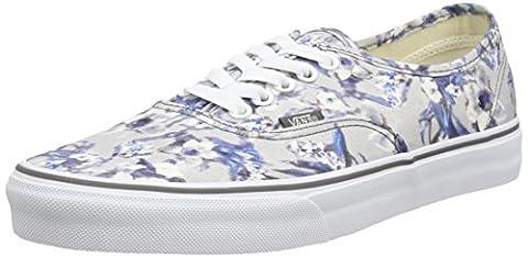 Vans Unisex Authentic Skateboarding Shoe, Multicolor (blurred Floral/pewter/true White), 7 (Bass Van)
