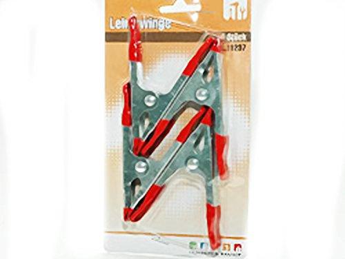 4 Pinces à coller en métal sur la carte : env. 10 cm