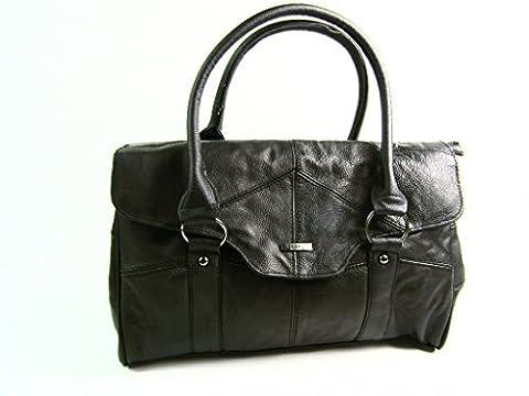 The Leather Emporium , Sac pour femme à porter à l'épaule Noir noir