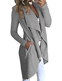 Mujer de Otoño Invierno Chaqueta de Abrigo Chaqueta de Punto Jersey de Abrigos Irregular Manga Larga