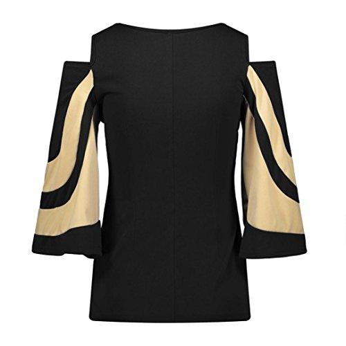 Lady Sweatshirt Blouse T-shirt Casual Pullover Tops, SOMESUN Loose Women Casual spalla fuori maglia manica lunga maglione camicetta Tops T-shirt Black